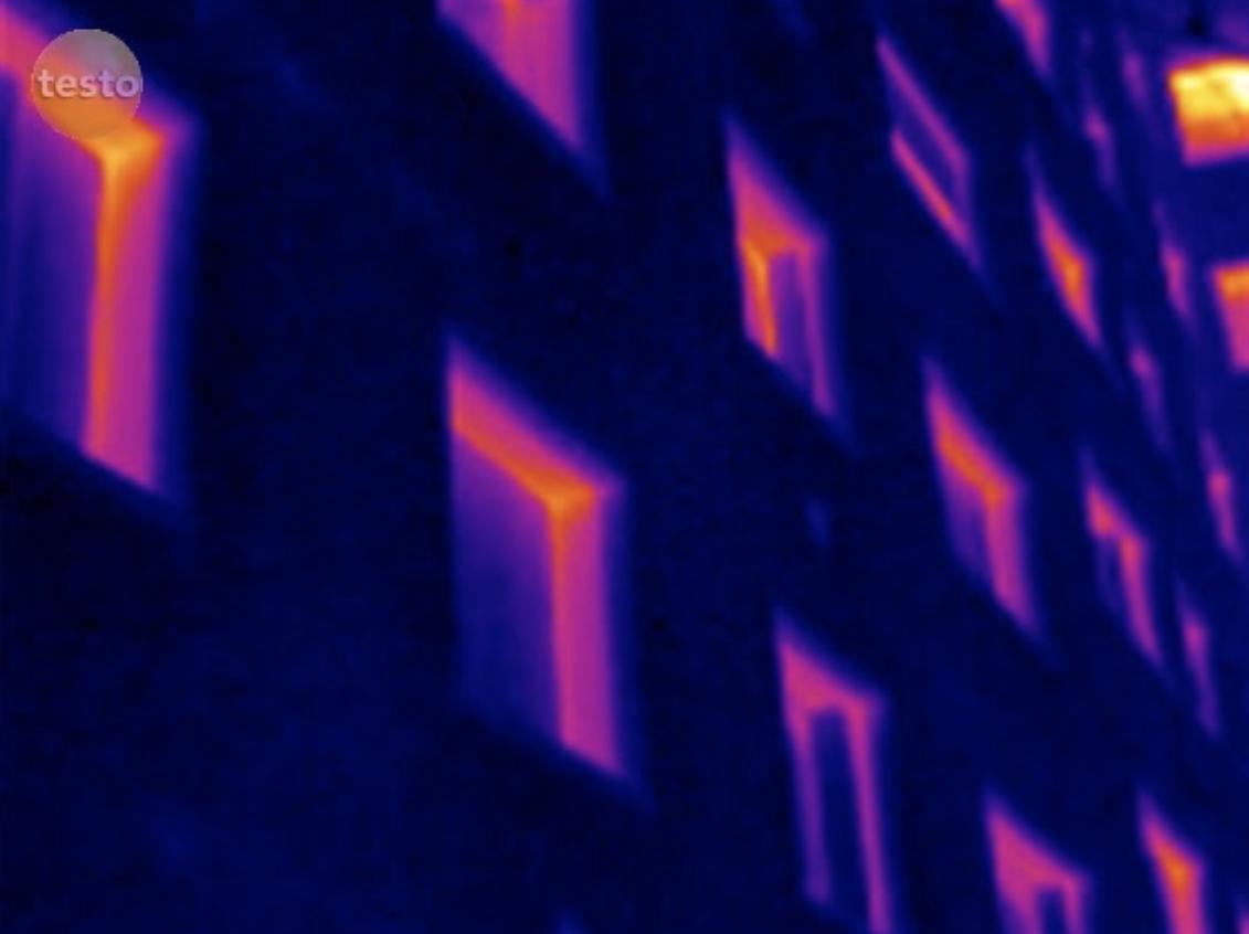 Image thermique d'un immeuble